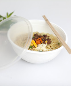 noodle bowl white