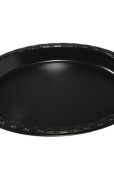 Plate Plastic Black 9 inch